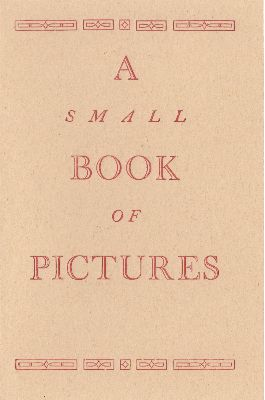 "Bop-16-01 Eight pages, ""small book of pictures"" Front Cover"