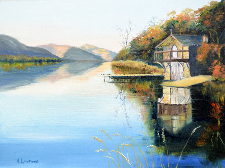 A commission of the boathouse on Ullswater