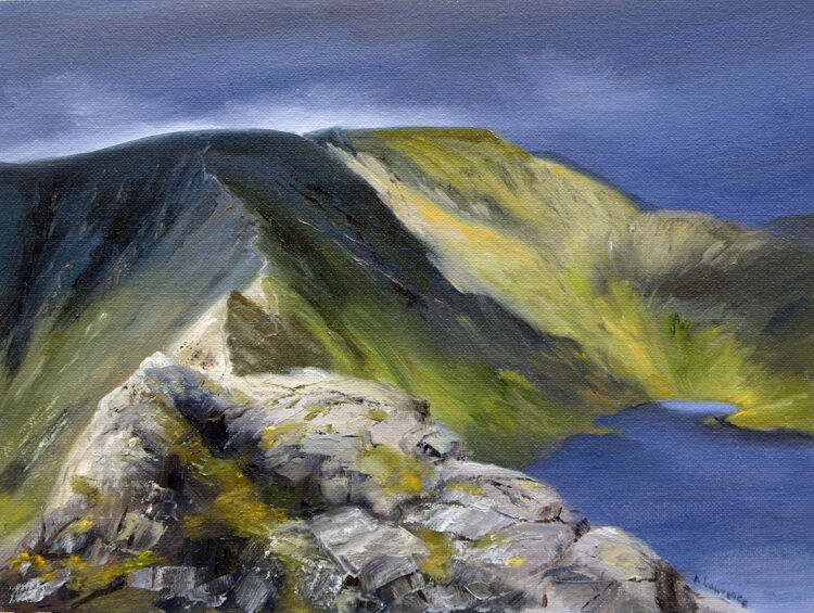 Along Striding Edge to Helvellyn