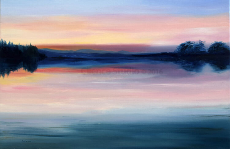 Sundown on Loch Ken