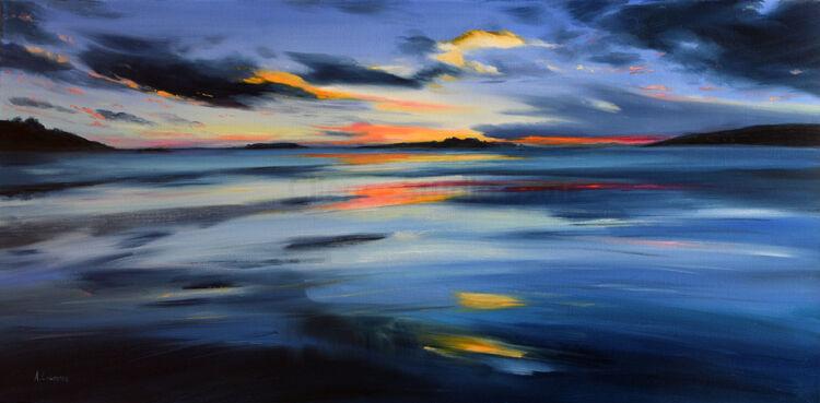 Sweeping Sunset across the Fleet Bay