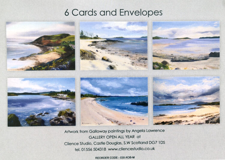 Pack of 6 Greetings Cards - Seascapes