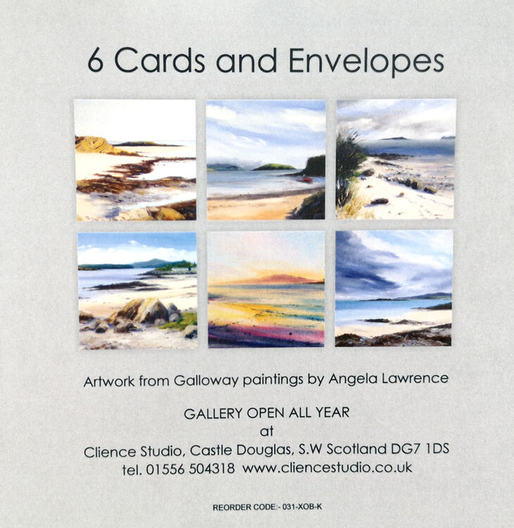 Greetings Cards Pack of 6 Seascapes