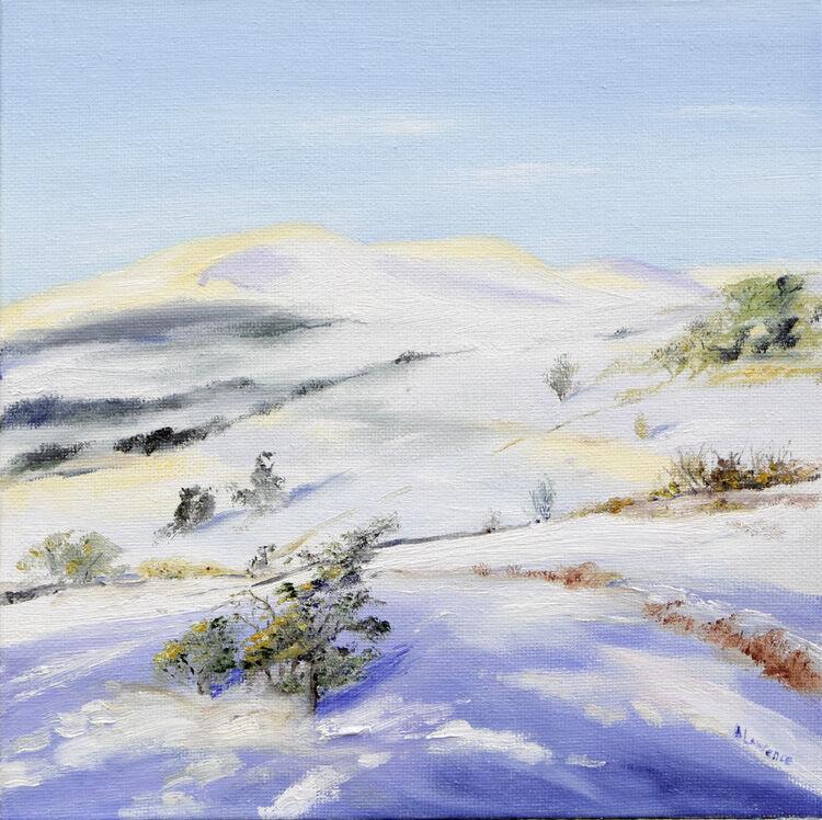 Winter Scene towards Cairnsmore of Fleet