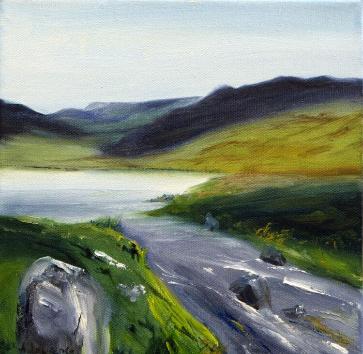 Up Gairland Burn to Loch Valley