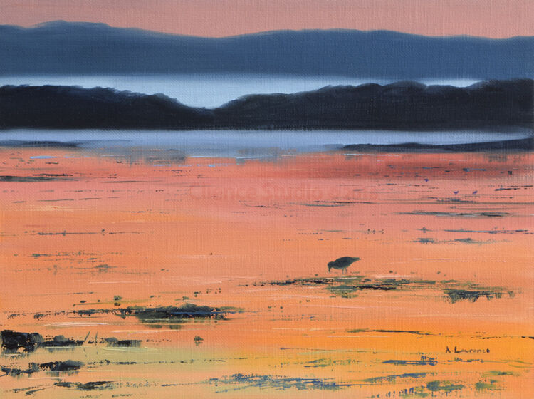 On the Low Tide at Sundown(Galloway)