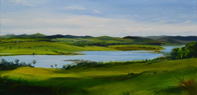 Serene view across Loch Ken