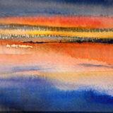 Sunset across the Fleet Bay