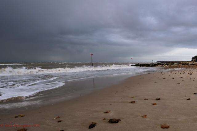 Mudeford Beach Grey Day.