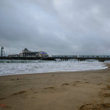 Grey day at the seaside.