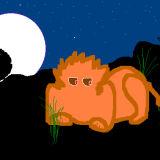 'Lion at Night'