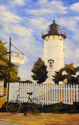 "Telegraph Hill, Martha's Vineyard - painting (28"" H x 18""W) oil on board (private collection: Scotland)"