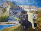 Remainder of foreground in and starting to work on the wolves