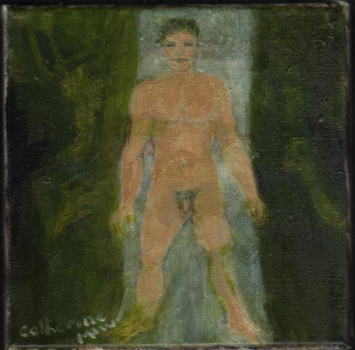 A Birch Stood My Jack, 20 x 20cm, oil on canvas (Crazy Jane W.B.Yeats)