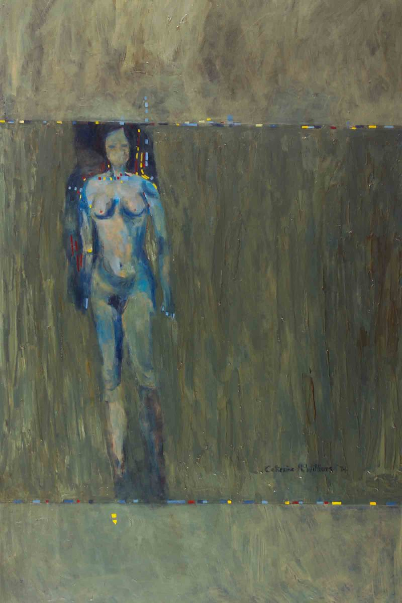 """Blue Girl"", oil on board, 1974"