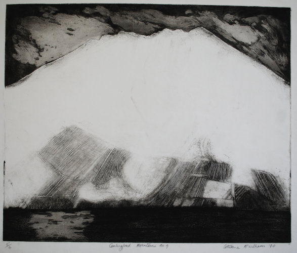 """Carlingford Mountains No.4"" Etching 1979"
