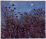"""Pale Moon and Rooks"", oil on canvas, 2006"