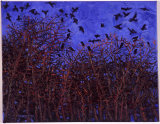 """Swooping Rooks"", oil on canvas,"