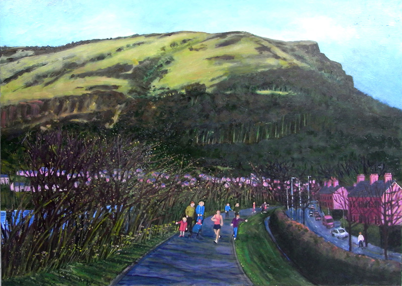 Waterworks Walk, oil on canvas 76 x 102cms