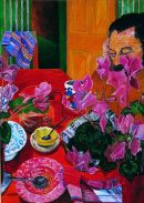 """Breakfast Table"", Gouache on paper, 29 x 21 inches, 1987"