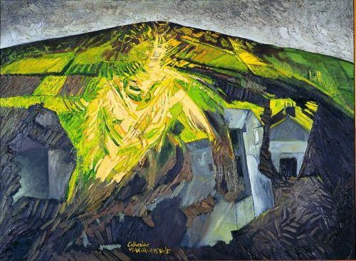 """Celtic Goddess 1"" , oil on canvas, 36 x 50 inches, 1987"