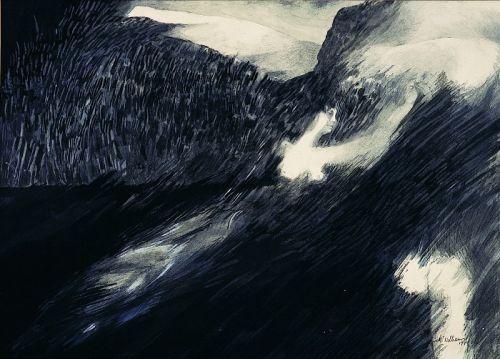 """1979 """"Figure swimming into the landscape"""""""
