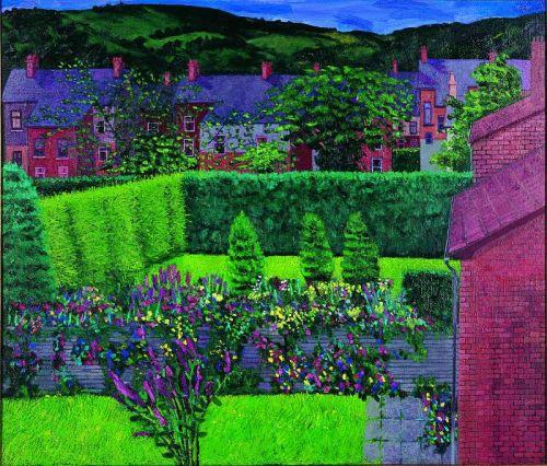 Evening North Belfast, oil on canvas, 91 x 104 cms