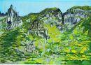 """Hidden Village, County Antrim"", acrylic on paper, 1976"