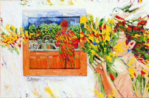 "1987 ""Me with sink and flowers"""