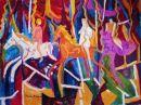 """Merry-Go-Round"" oil on canvas 36"" x 48"" 1970"