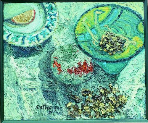 """Mouldy Orange"", oil on board, 20 x 24inches, 1993"