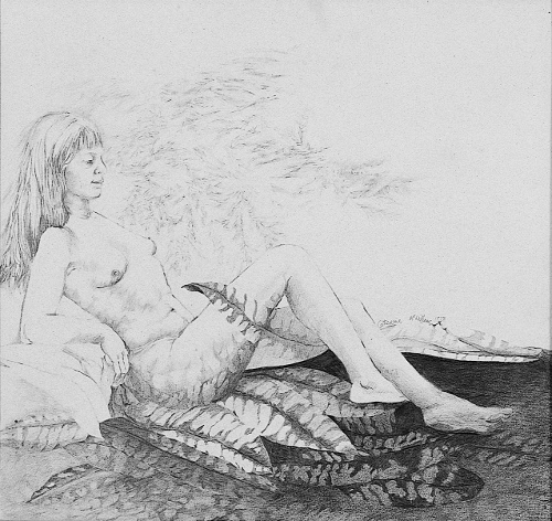 "1978 ""Woman and Leaves"""
