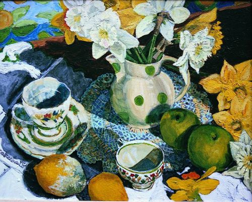 """Spotted Jug Still Life"", acrylic on canvas, 1997"