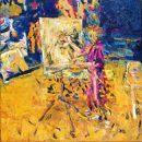 """Studio interior "" 1991 oil on canvas 36 x 36"""