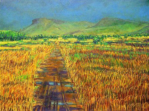 """Summer Bog 2, Sligo"", oil on canvas, 36 x 48inches, 1999"