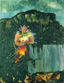 """""""Woman with Peace Line and Cavehill"""" 1983"""