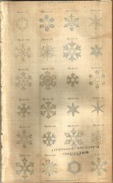 Snowflakes drawn by William Scorsby