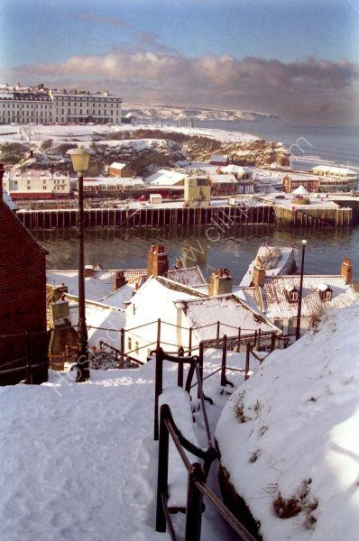 199 Steps, Snow & Blue Sky