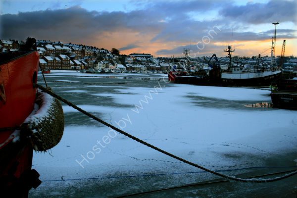 Whitby Harbour, Frozen In Time.