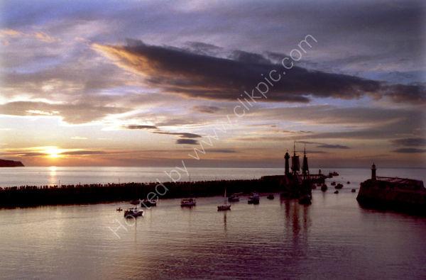 HMS Endeavour Leaving Whitby Harbour