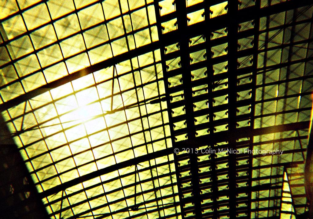 Sunlit bursts through the roof of Berlin Hauptbanhof