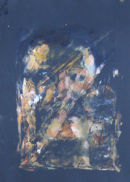 Monoprint of oil on clingfilm