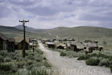 Main Street, Bodie, a ghost gold mining town, deserted since 1940.