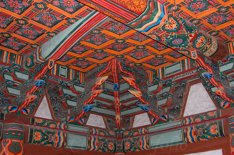 Ceiling detail in the Bongung house