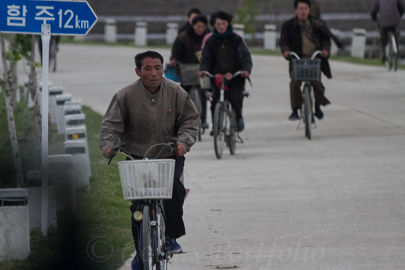 The main mode of transport throughout the DPRK
