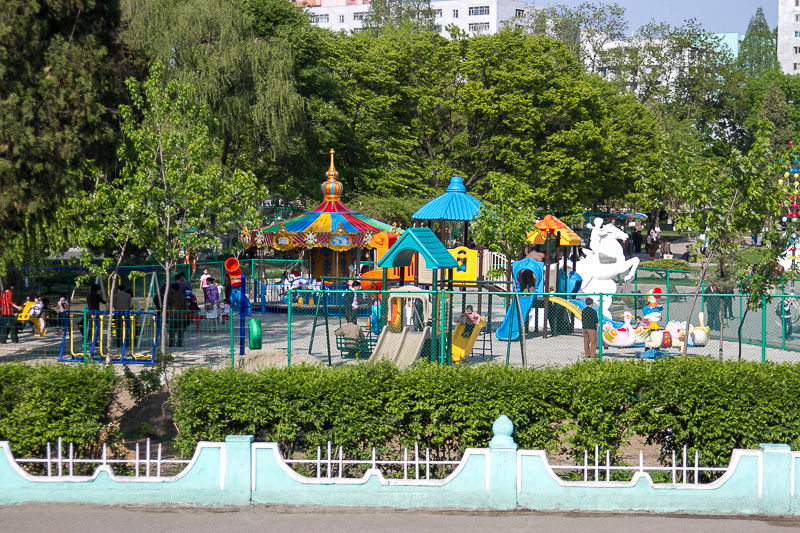 Children's playground in the city suburbs