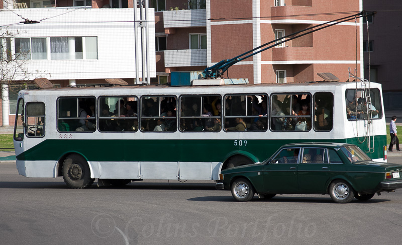 A trolley bus