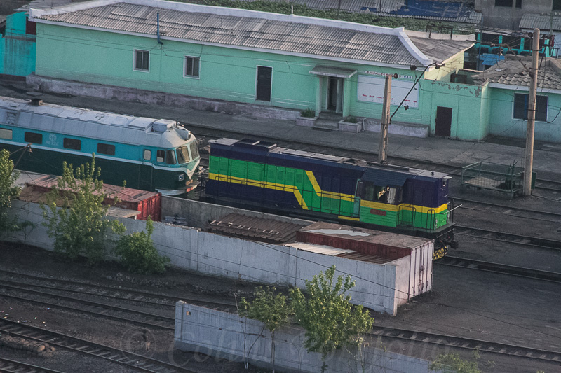 Part of the Pyongyang railway station yard