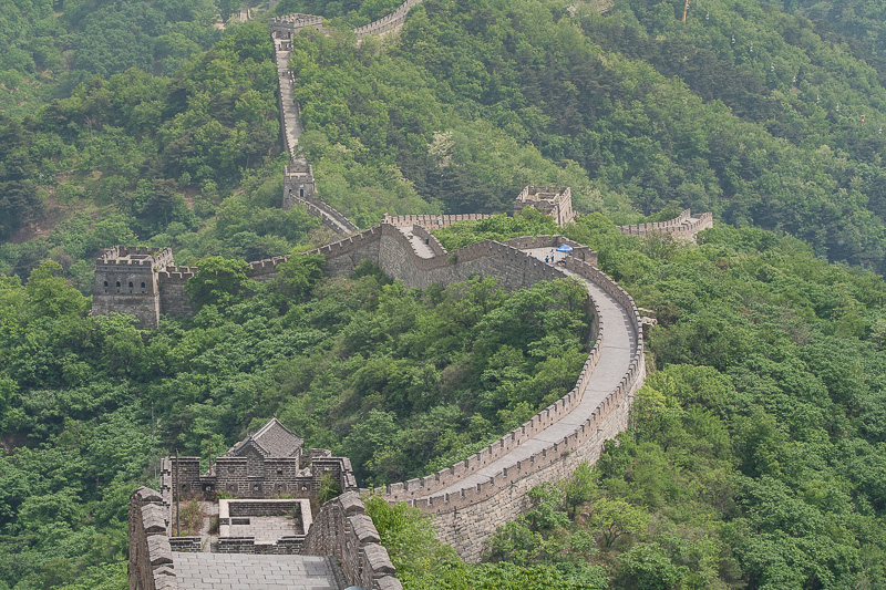 A view taken from one of the many watch towers, along the Great Wall
