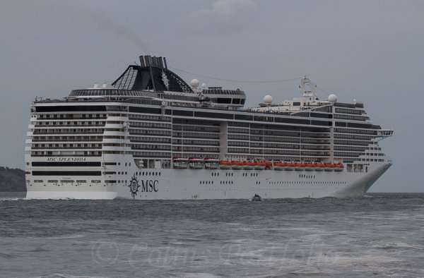 MSC 'Splendida' outbound for Cork